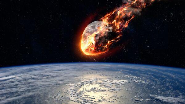 Meteorit hořící v atmosféře Země. Ilustrační foto - Sputnik Česká republika