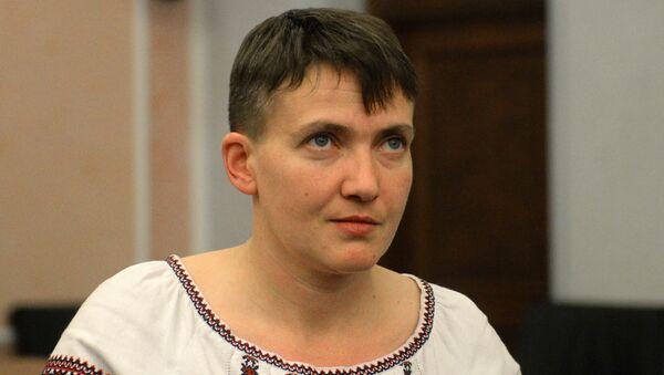 Poslankyně Nejvyšší rady Ukrajiny Naděžda Savčenková - Sputnik Česká republika