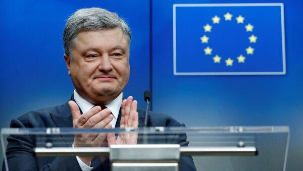 Petro Porošenko během summitu EU-Ukrajina - Sputnik Česká republika
