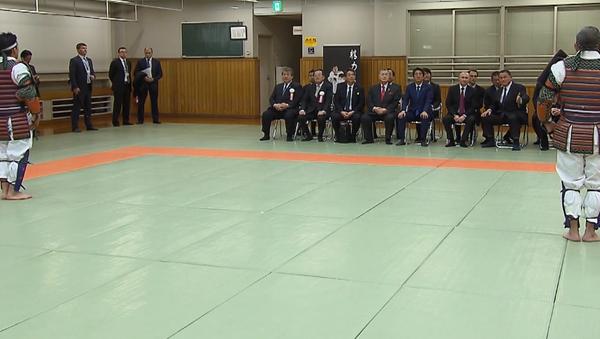 Putin a Abe sledují zápas v Judo - Sputnik Česká republika