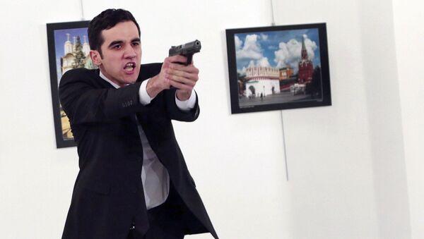 Vrah ruského velvyslance. Ankara - Sputnik Česká republika