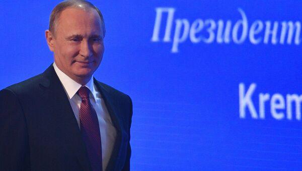 Президент РФ Владимир Путин на двенадцатой большой ежегодной пресс-конференции - Sputnik Česká republika