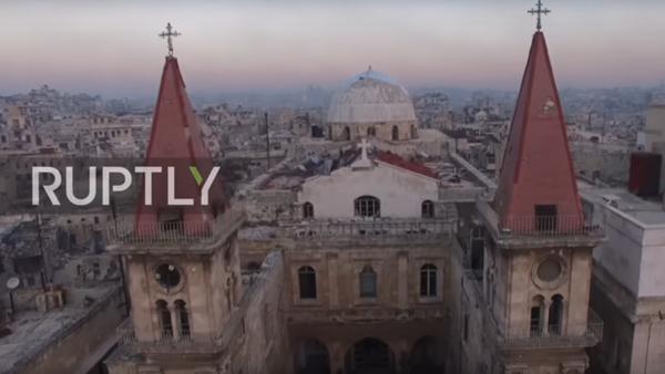 Z ptačí perspektivy: severní metropole Sýrie po vyhnání teroristů. - Sputnik Česká republika