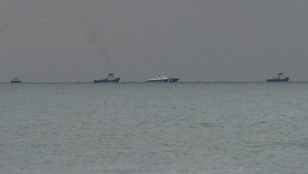 Místo padu letadla Tu-154 v Černém moři - Sputnik Česká republika