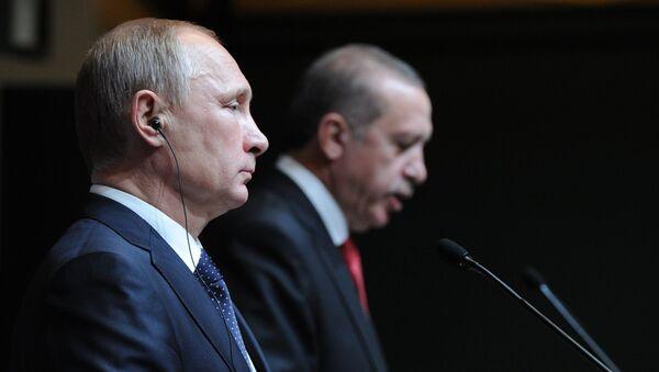 Vladimir Putin a Recep Tayyip Erdoğan - Sputnik Česká republika