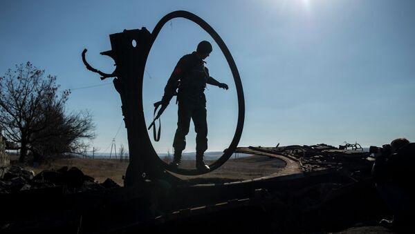Domobranec na Donbasu - Sputnik Česká republika