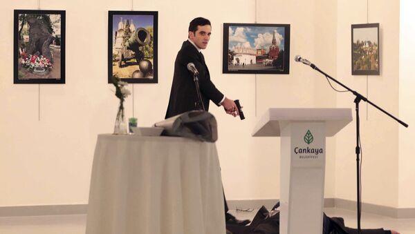 Vrah ruského velvyslance Andreje Karlova - Sputnik Česká republika