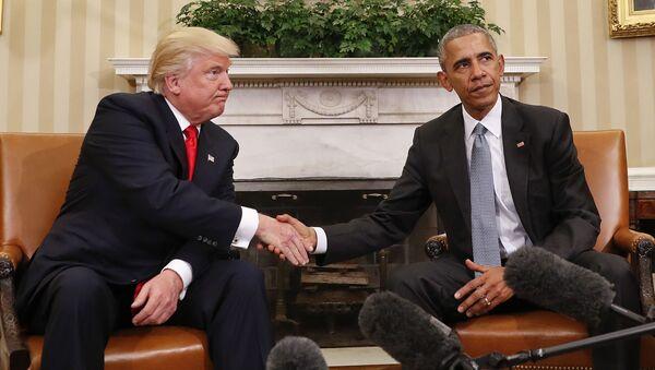 Donald Trump a Barack Obama - Sputnik Česká republika