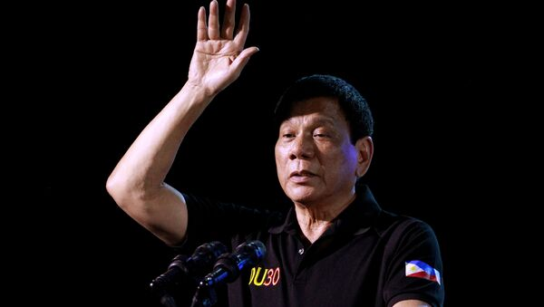 Prezident Filipín Rodrigo Duterte - Sputnik Česká republika