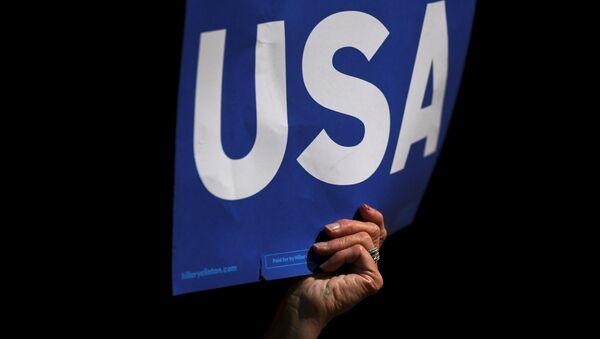 Plakát USA - Sputnik Česká republika