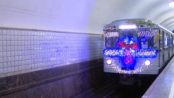 Novoroční vlak metra - Sputnik Česká republika