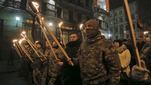 Pochod nacionalistů v Kyjevě. (ilustrační foto) - Sputnik Česká republika