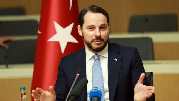 Turecký ministr financí Berat Albayrak - Sputnik Česká republika