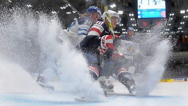 Hokejisté Finska a USA. Archivní foto - Sputnik Česká republika