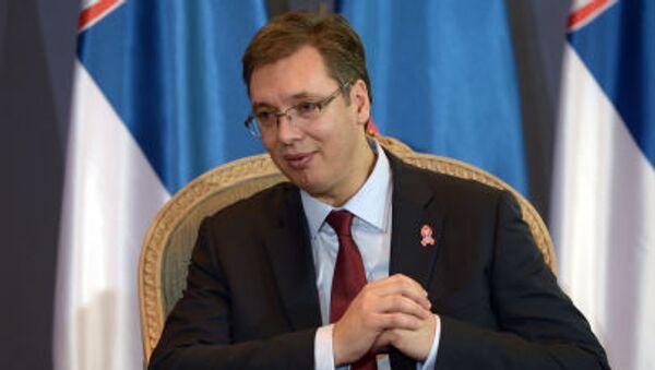 Předseda srbské vlády Aleksandar Vučić - Sputnik Česká republika