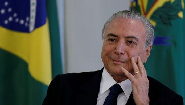 Bývalý brazilský prezident Michel Temer  - Sputnik Česká republika