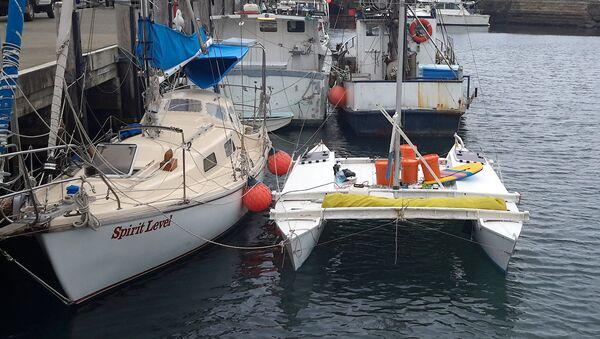 Jachta, na které se Alan Langdon a jeho dcera vydali na  plavbu - Sputnik Česká republika