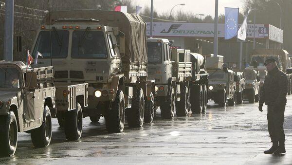 Američtí vojáci přicházejí do Polska v rámci operace Atlantické odhodlání  - Sputnik Česká republika