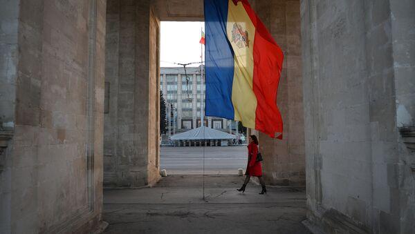 Moldavská vlajka v Kišiněvě - Sputnik Česká republika