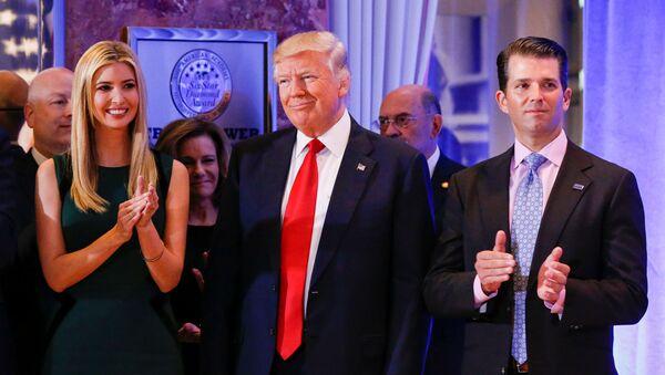 Donald Trump a jeho rodina - Sputnik Česká republika