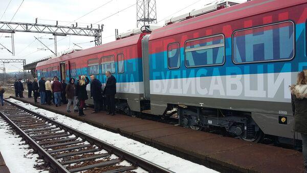 Srbský osobní vlak - Sputnik Česká republika
