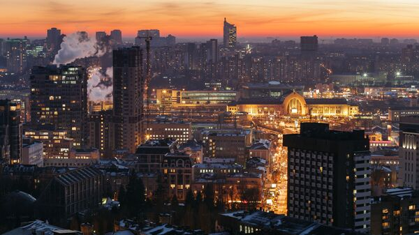 Výhled na noční Kyjev - Sputnik Česká republika