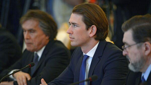 Rakouský ministr zahraničních věcí Sebastian Kurz - Sputnik Česká republika