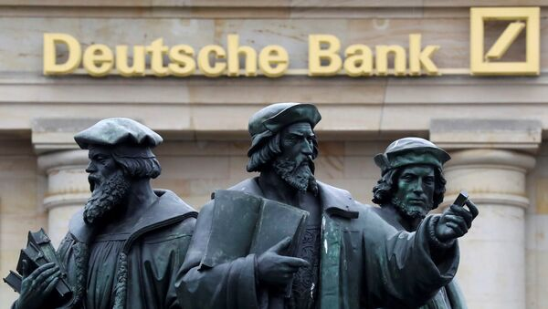 Logo Deutsche Bank ve Frankfurtu - Sputnik Česká republika