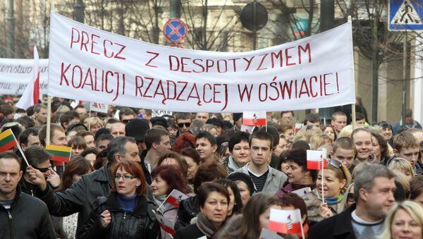 Protestní akce Poláků ve Vilniusu - Sputnik Česká republika