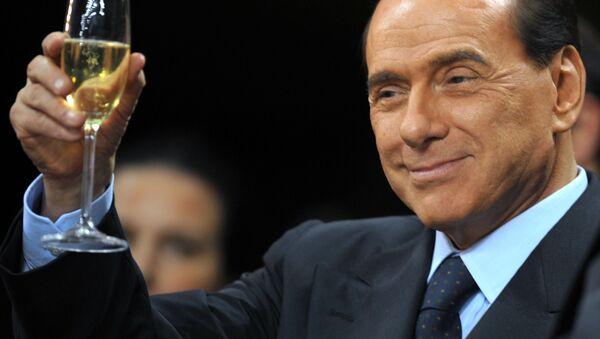 Silvio Berlusconi prima di una partita di calcio Serie A al San Siro Stadium a Milano. - Sputnik Česká republika