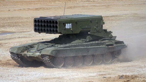 Těžký raketomet TOS-1A Solncepjok. - Sputnik Česká republika