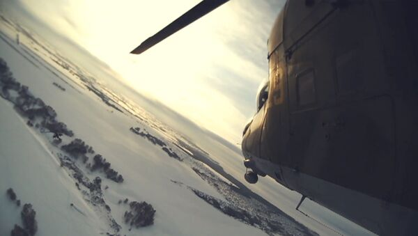 Trénink vzdušného boje útočných vrtulníků Mi-24 s pomyslným soupeřem - Sputnik Česká republika