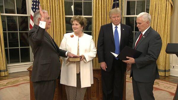 Přísaha Rexe Tillersona jako ministra zahraničí - Sputnik Česká republika