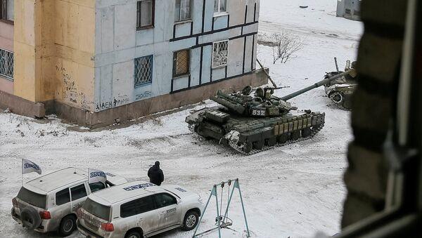 Ukrajinské tanky v Avdějevce - Sputnik Česká republika