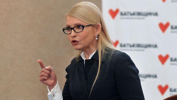 Předsedkyně ukrajinské opoziční strany Baťkivščyna Julija Tymošenková - Sputnik Česká republika
