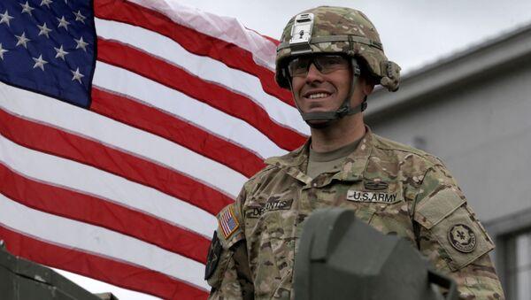 Americký voják v Lotyšsku - Sputnik Česká republika