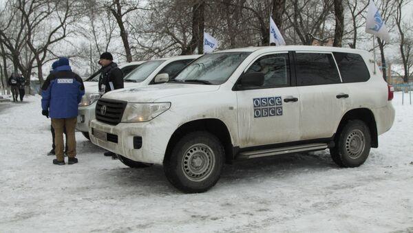 Příslušnící OBSE v Doněcké oblasti - Sputnik Česká republika