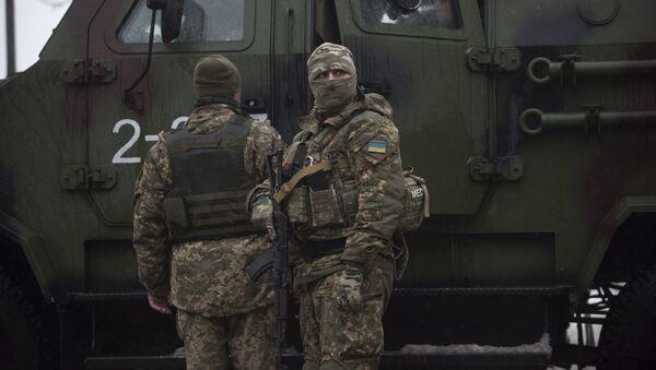 Ukrajinští vojáci v Avdějevce - Sputnik Česká republika
