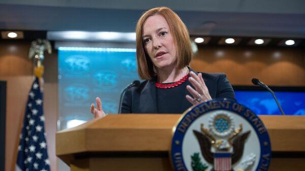 Bývalá mluvčí amerického ministerstva zahraničních věcí Jen Psakiová - Sputnik Česká republika
