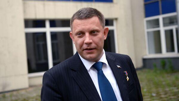 Šéf samozvané Doněcké lidové republiky Aexandr Zacharčenko - Sputnik Česká republika