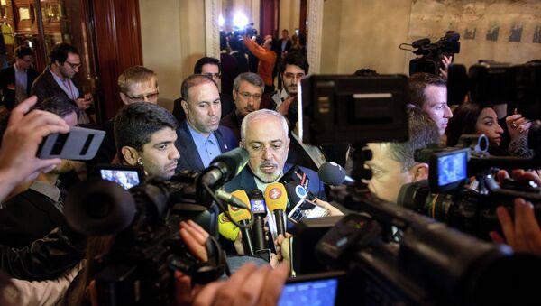 Íránský ministr zahraničních věcí Mohammed Džavad Zaríf - Sputnik Česká republika