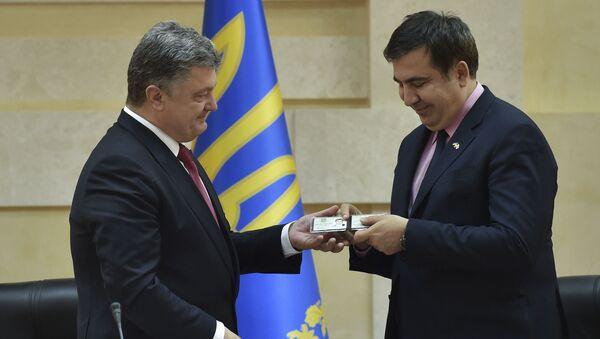 Petro Porošenko jmenoval Michaila Saakašviliho gubernátorem Oděské oblasti - Sputnik Česká republika