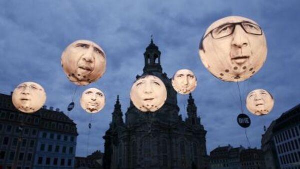 Summit ministrů financí zemí G7 v Drážďanech. Portréty lídrů G7 na balónech - Sputnik Česká republika