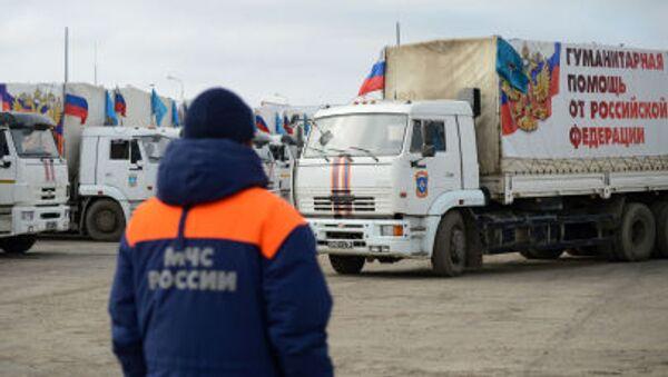 Kamiony s ruskou humanitární pomocí - Sputnik Česká republika