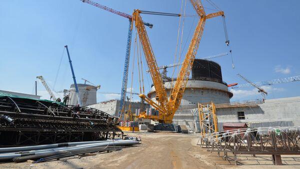 Budování Běloruské jaderné elektrárny. Ilustrační foto - Sputnik Česká republika