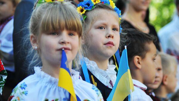 Ukrajinští školáci ve Lvově - Sputnik Česká republika