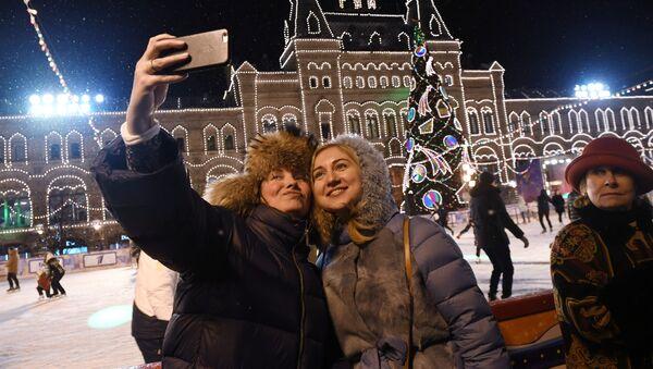 Kluziště na Rudém náměstí v Moskvě - Sputnik Česká republika