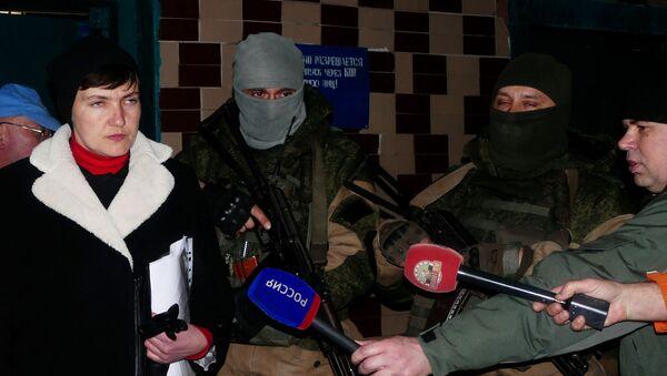 Naděžda Savčenková během návštěvy v DLR - Sputnik Česká republika