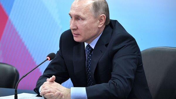 Ruský prezident Vladimir Putin v Krasnojarsku - Sputnik Česká republika