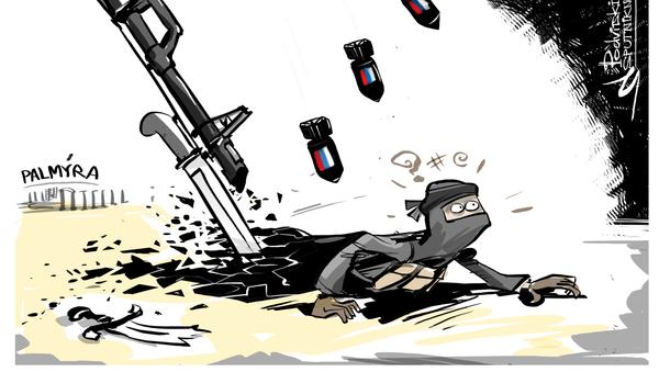 Osvobození Palmýry od ISIL - Sputnik Česká republika